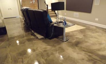 plancher chic recouvrement de plancher de b ton l 39 poxy ou polyur a. Black Bedroom Furniture Sets. Home Design Ideas